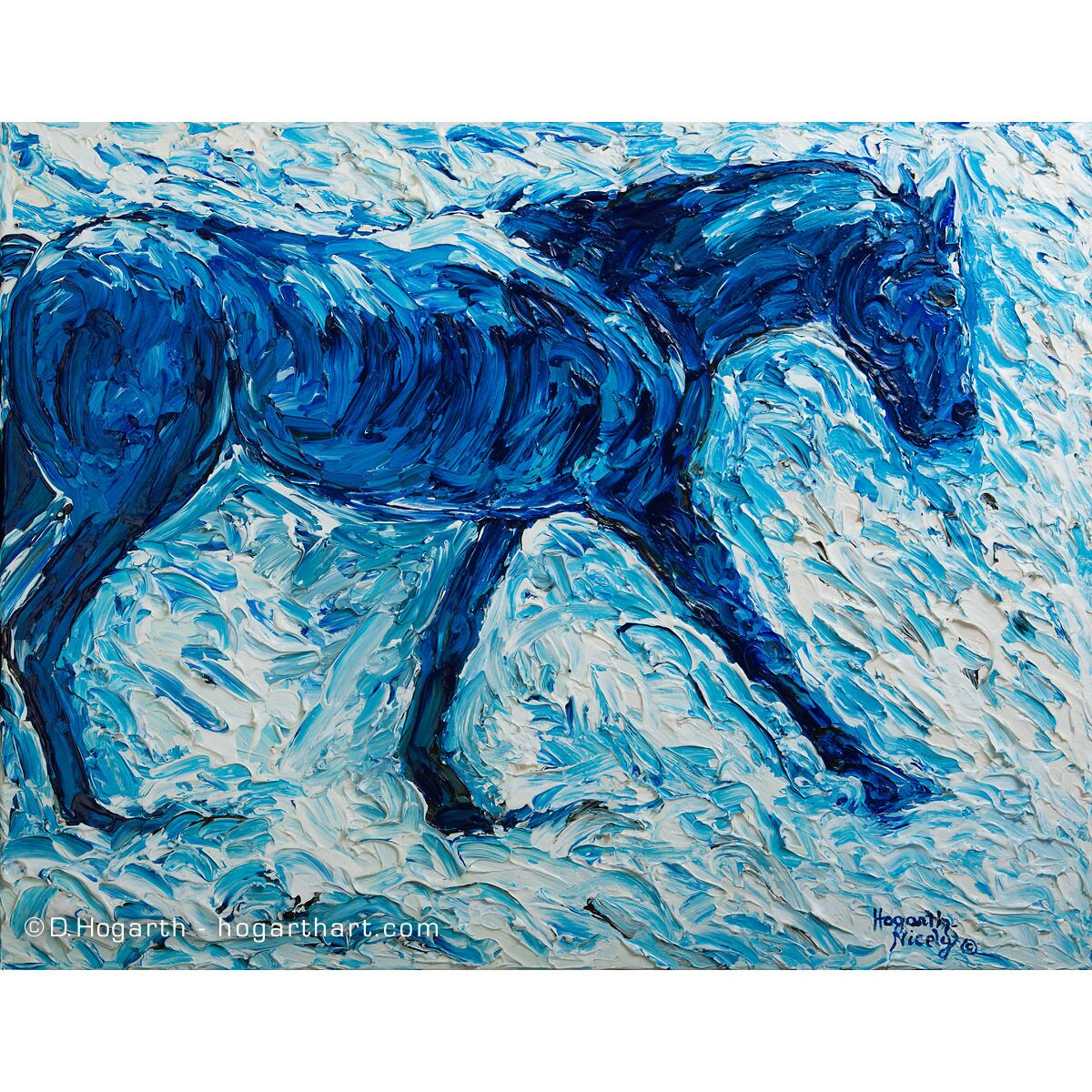 Blue Horse Small